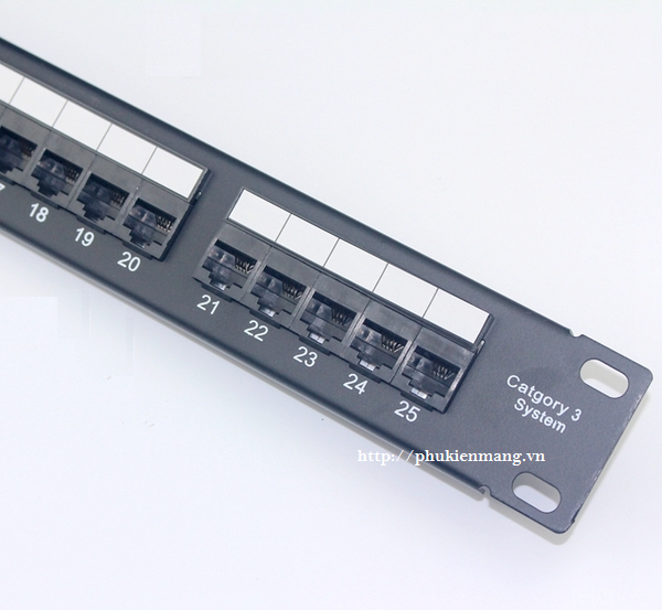 www.123nhanh.com: Patch Panel AMP RJ11, Patch panel Cat3 25-port