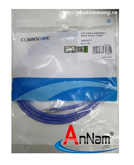 Dây nhảy Patch cord 1.5m(5ft) Cat5e Commscope/ AMP mã 1859239-5