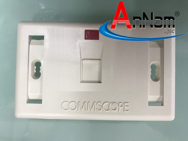 Faceplate, Mặt nạ, outlet ổ cắm chữ nhật Commscope, 1 cổng