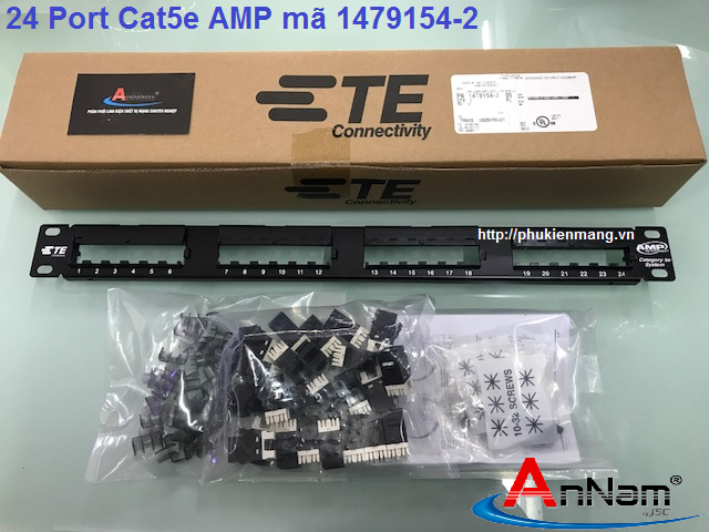 Thanh đấu nối Patch Panel 24 Port Cat5e AMP/ commscope mã 1479154-2
