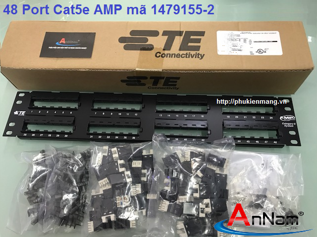 Thanh đấu nối Patch Panel 48 Port Cat5e AMP/ commscope mã 1479155-2
