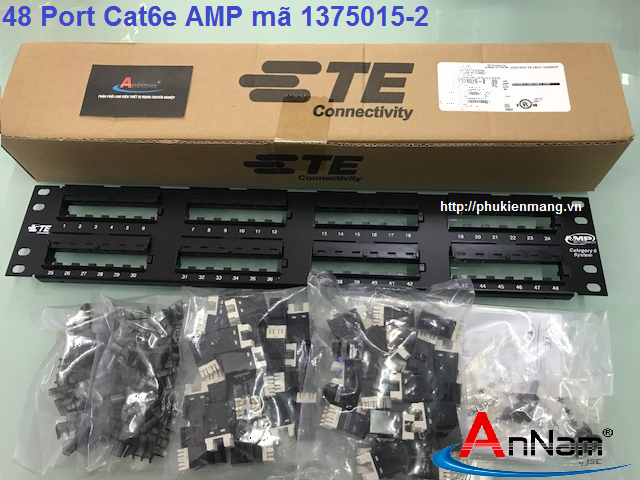 Thanh đấu nối Patch Panel 48 Port Cat6 AMP/ commscope mã 1375015-2