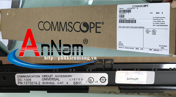Patch panel Commscope/ AMP 1479154-2 24 cổng cat5e - Commscope/AMP 1375014-2 24 cổng cat6