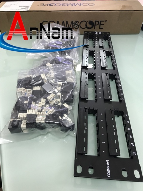 www.123nhanh.com: Phân phối PATCH PANEL 24, 48 PORT CAT6 CommScope