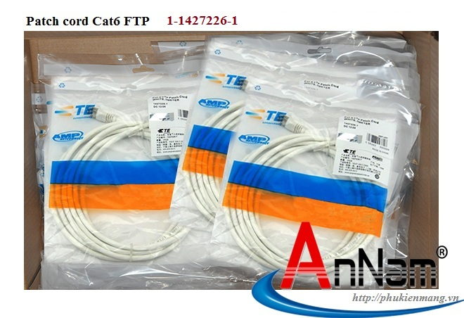 Dây nhảy Patch Cord 10m RJ45, category 6, FTP, LSZH, white 1-1427226-1